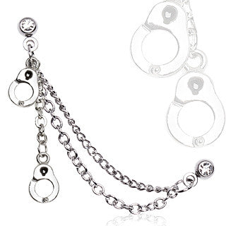 Cartilage Handcuff Dangle With Chain Earring