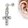 Cartilage Cross Dangle Earring