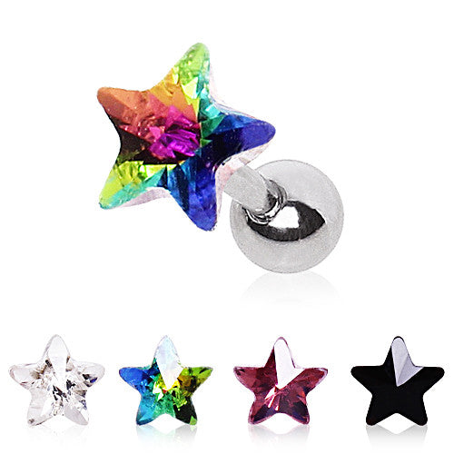 Cartilage Star Prism Stud Earring