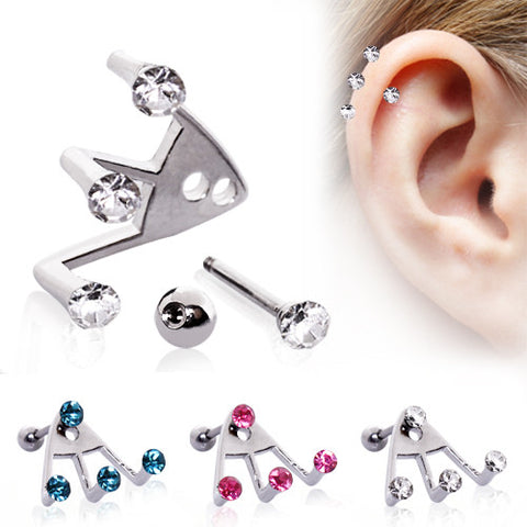 Trident Triple Cartilage Earring
