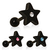 Cartilage Star Stud With Gem