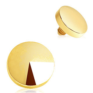 Gold Plated Disc Dermal Top