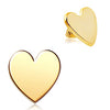 Gold Plated Heart Dermal Top