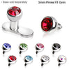 3mm Dermal Top With Gem - BodyJewelrySource