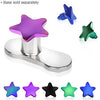 Anodized Star Dermal Top - BodyJewelrySource