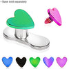 Anodized Heart Shape Dermal Top - BodyJewelrySource