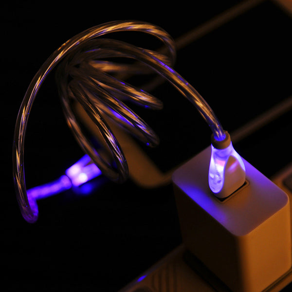 "40"" Micro USB LED Cable - White - BodyJewelrySource"