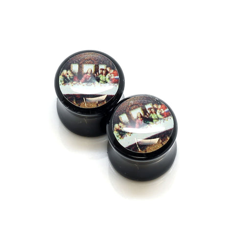 Acrylic Last Supper Ear Plugs - 12mm