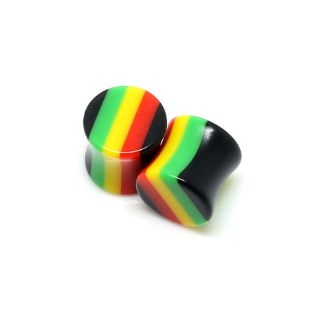 Double Flared Rasta Plugs