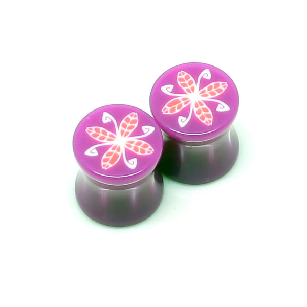 Purple Double Flared 4 Leaf Plugs