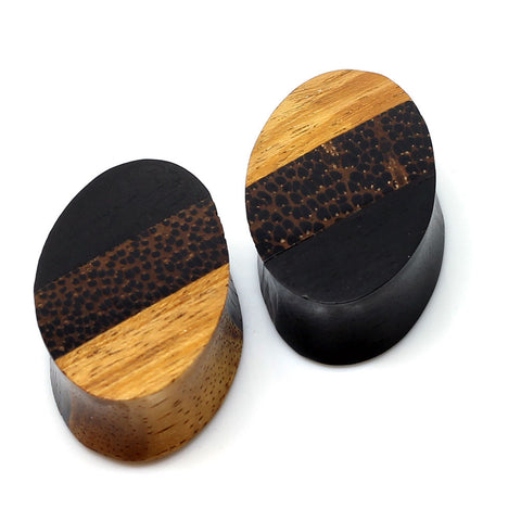 Oval Triple Layer Wood Plugs