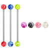 Industrial Barbell with UV Acrylic Marble Balls