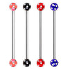 Industrial Barbell with UV Multi Gemmed Ball