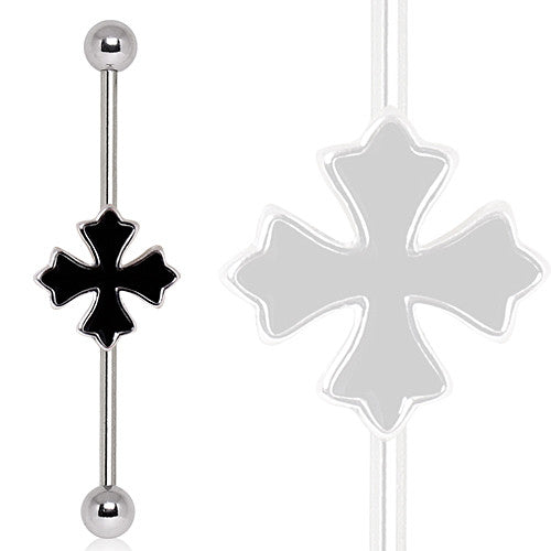 Industrial Barbell with Cross Patonce