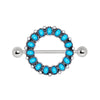 316L Stainless Steel Antique Turquoise Nipple Shield - BodyJewelrySource