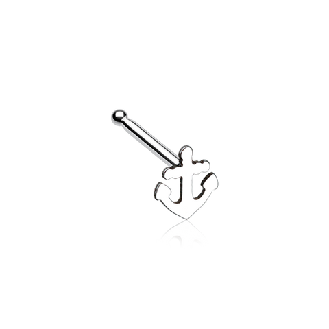 Dainty Anchor Icon Nose Stud