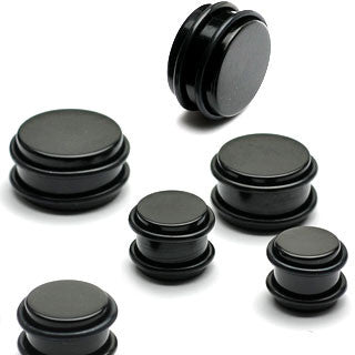 Acrylic Black Plugs with O-Rings