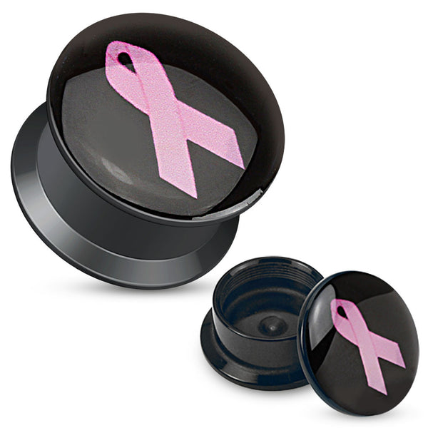 Pink Ribbon-Breast Cancer Stash Plugs