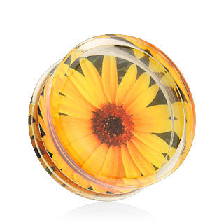 Sunflower Double Flared Ear Plugs