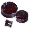 Natural Chicken Blood Saddle Stone Plug