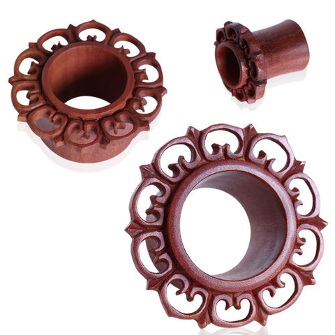 Organic Ornate Eyelet Flesh Tunnel
