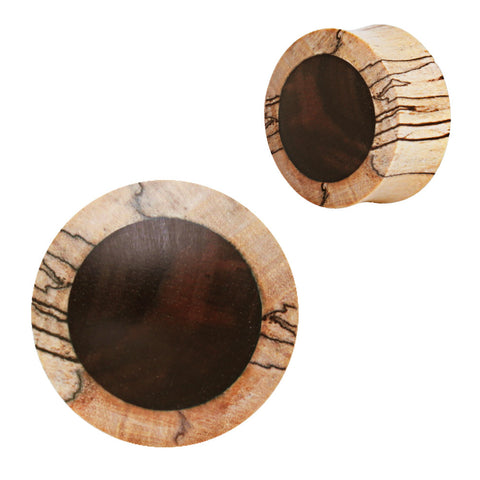 Organic Crocodile Wood Saddle Plug with Ebony Inlay