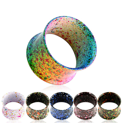 SALE -  Metallic Splatter Ear Tunnels