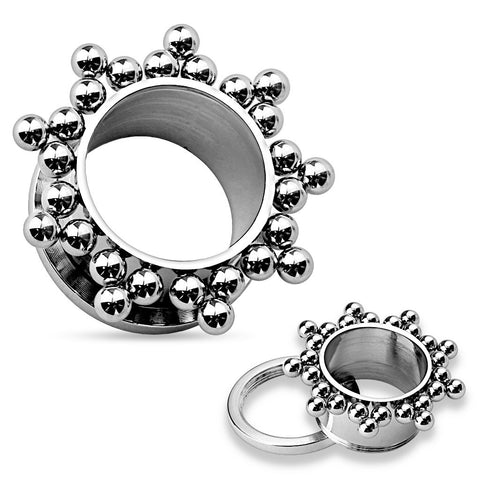 SALE-Cluster Steel Balls on 316L Stainless Steel Flesh Tunnels