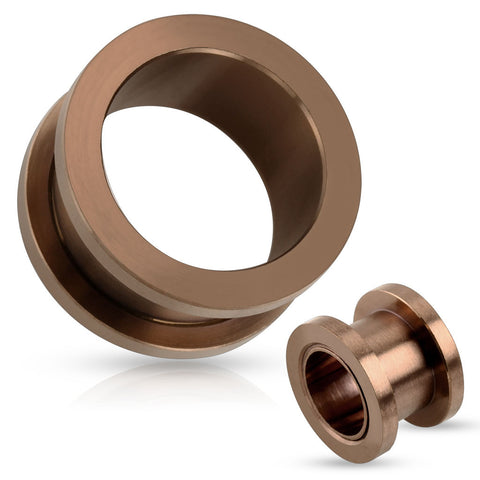Bronze Screw Fit Flesh Tunnel