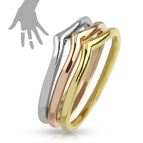 Mid-Ring/Toe Ring Tri Color Triple