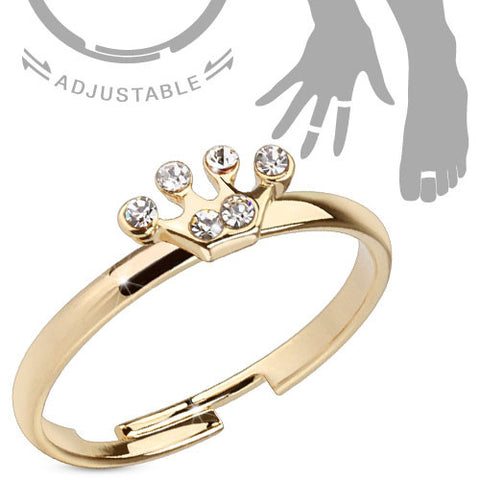 Mid-Ring/Toe Ring Princess Crown Adjustable