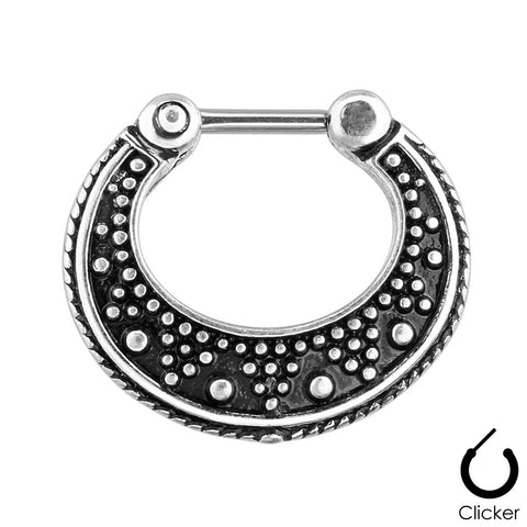 Dotted Pattern Septum Ring
