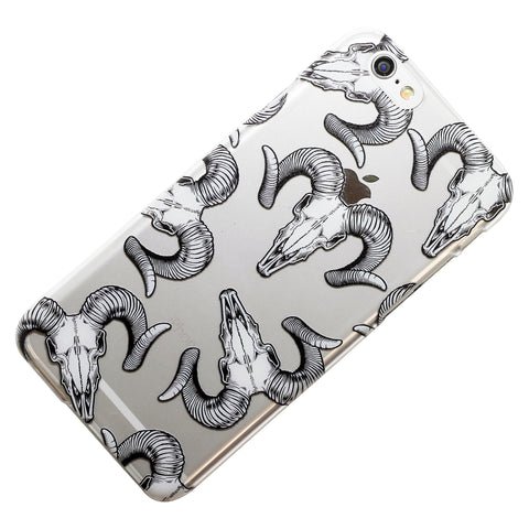 Goat Skull Head Pattern Phone Case