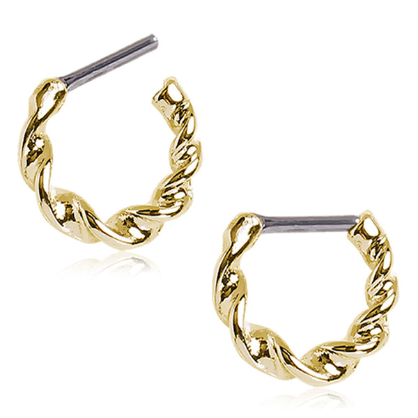 Twisted Gold Plated Septum Clicker