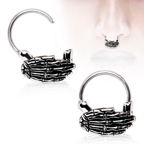 Skeleton Hand Septum Clicker