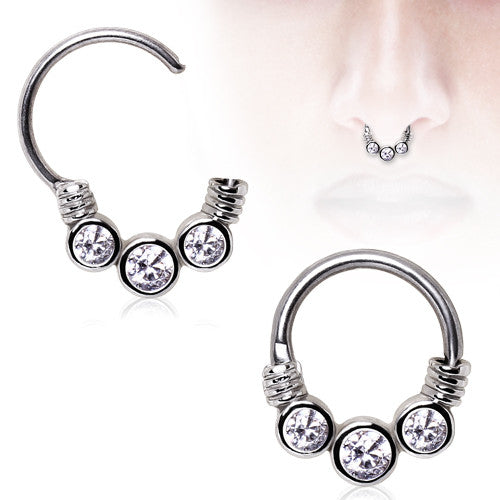3 Gemmed Septum Clicker