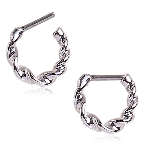 Twisted Stainless Steel Septum Clicker