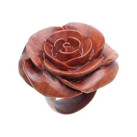Chocolate Large Rose Ring