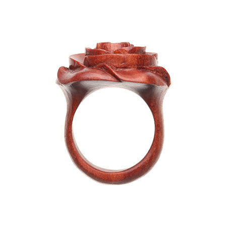 Chocolate Small Rose Ring