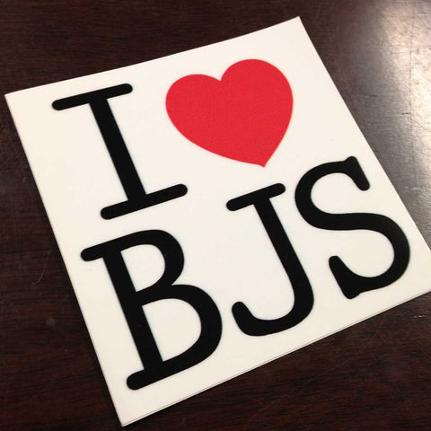 BJS Love Sticker