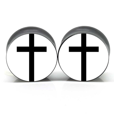 Black Cross Ear Plugs