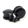 Black Agate Gem Cut Ear Plugs - BodyJewelrySource