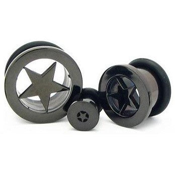 Blackline Laser Cut Star Plug