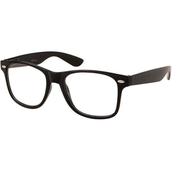 Black Frame Nerd Glasses - BodyJewelrySource
