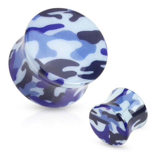 Blue Camoflauge Ear Plugs