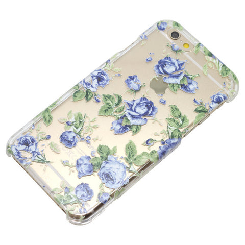 Blue Flowers Floral Pattern