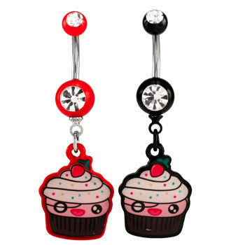 Cupcake Logo Navel Ring