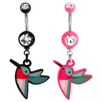 Humming Bird Logo Navel Ring