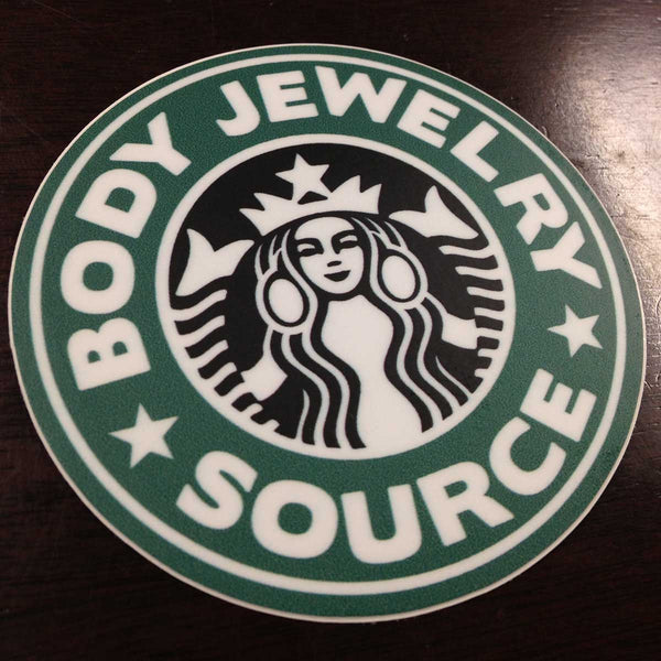 BJS Bucks Logo Sticker - BodyJewelrySource