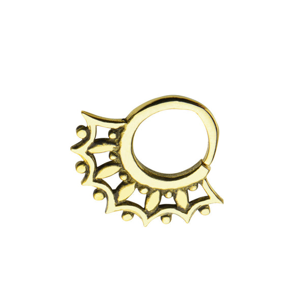 Italian Brass Rays Septum Ring